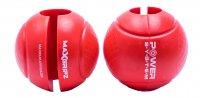 Power System gripy na posilovací tyč GLOBE GRIPZ Červené 2ks