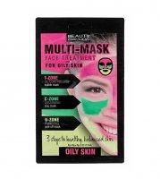 Beauty Formulas Třízónová pleťová maska pro mastnou pleť 3x5g