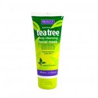 Beauty Formulas Tea tree hloubkově čistící maska na pleť 100ml