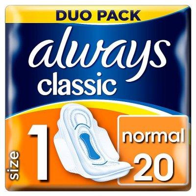 Always vložky Classic Normal Sensitive duo S1 20ks