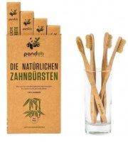Pandoo Bambusové Kartáčky Medium Soft - výhodné balení 4ks